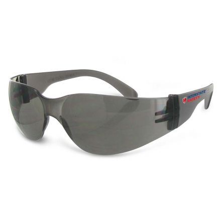 Interstate Safety 40252 Polycarbonate Impact Resistant Safety Glasses, Smoke Frame and Lens