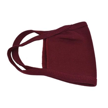 Interstate Safety 40358 Reusable Unisex Face Mask with Round/Ear Loop - 100% Cotton (MAROON)