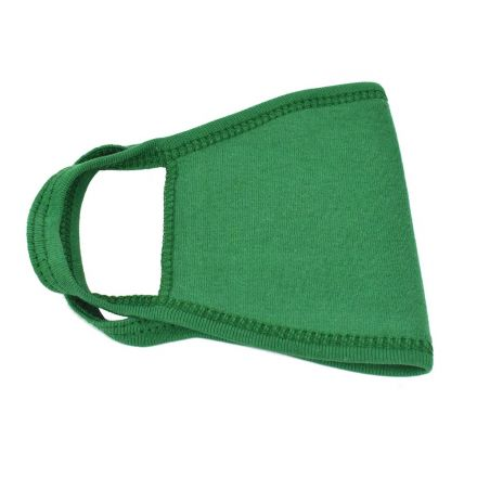 Interstate Safety 40359 Reusable Unisex Face Mask with Round/Ear Loop - 100% Cotton (GREEN)