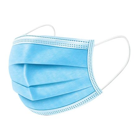Interstate Safety 40364 Disposable Face Mask with Elastic Earloop - 16 Bags of 3 Masks/Bag