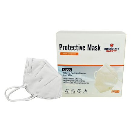 Interstate Safety 40365-BX Foldable Disposable KN95 Mask / Particulate Respirator - 10 Packs of 2 (Total 20 Masks)
