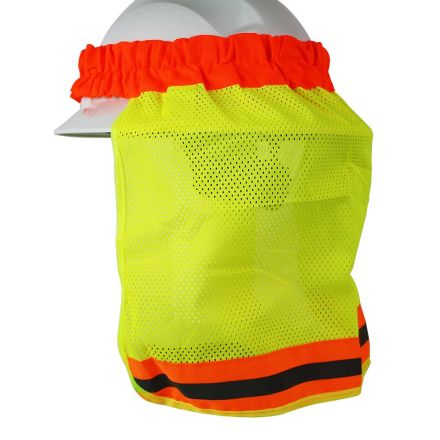 Interstate Safety 40412 Neck Shield / Shade - High Visibility LIME Color with Reflective Tape