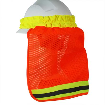 Interstate Safety 40413 Neck Shield / Shade - High Visibility ORANGE Color with Reflective Tape