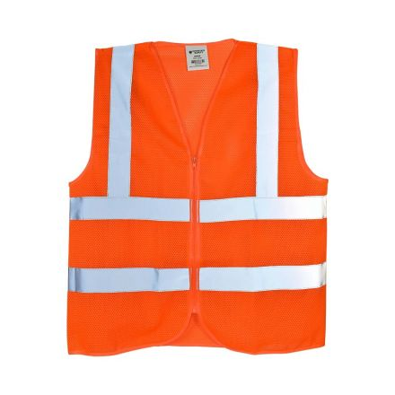 Interstate Safety 40462 High Visibility Safety Vest - Orange (Large)